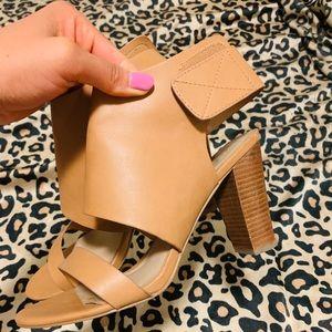 Tan Heel Sandals